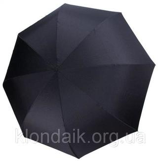 Черный зонт-трость Up-Brella, антидождь, зонт наоборот с двойным куполом., фото №4