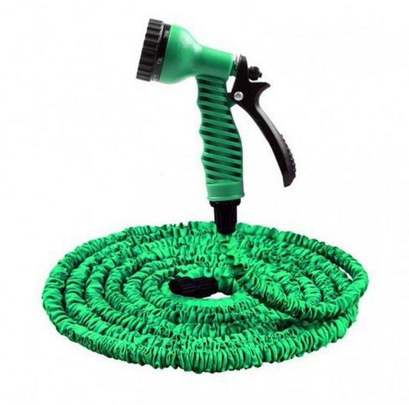 Садовый шланг для полива Xhose 52,5 м с распылителем green